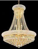 現代クロム水晶シャンデリアの標準的な金の水晶シャンデリアの照明設備、金かクロムは、100%年を保証した