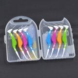 Cuidado dental oral plástico cepillo interdental palillo de dientes de 0,8 mm saludable