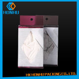 Caixas de empacotamento do roupa interior feito sob encomenda plástico da impressão