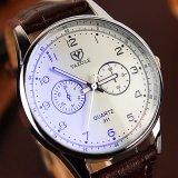 Vigilanza all'ingrosso poco costosa del quarzo dell'orologio del 311 uomo bollata Yazole della cinghia di cuoio