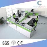Directement 4 portées modernes L poste de travail de meubles de bureau de Tableau de forme