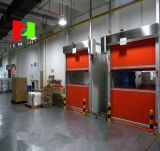 Plásticos de alta velocidad automáticos industriales ruedan para arriba el uso de la puerta para el almacén
