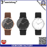 Yxl-339 형식 좋은 품질 시계 석영 Mens 가죽 유행 손목 시계는 도매업 남자의 시계를 주문 설계한다