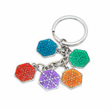 Mehrfacher Ring-Großhandelsmetall Keychain
