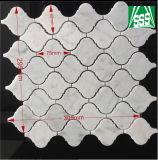 부엌과 목욕탕 마루를 위한 자연적인 백색 Carrara 대리석 모자이크 타일