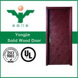 Double porte de nature d'entrée moderne d'avant pour la porte solide en bois de teck de villa
