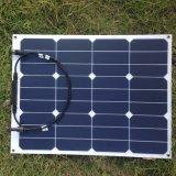 Panneau solaire flexible monocristallin solaire flexible de la pile 12V 40W