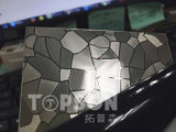 placa de acero inoxidable de la hoja de metal 201 304 316 con buena calidad coloreada grabada