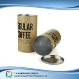 Het stijve Vakje van de Verpakking van de Wijn van de Koffie van de Gift van de Buis van het Document Verpakkende (xc-ptp-030)