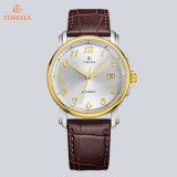 Het Merk Automatische Watch72202 van de Luxe van de Mensen van de Horloges van het Glas van de Saffier van het leer of van de Steelband