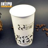 Copo de papel dobro descartável de parede para o uso quente da bebida