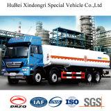 25cbm caminhão do depósito de gasolina do petróleo do euro 3 com transmissão rápida