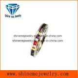 Bague multi de vente chaude de bijou de pierres de couleurs