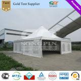 tenda del Pagoda di cerimonia nuziale bianca di 10X10m grande con le tende & i rivestimenti per gli eventi della festa nuziale