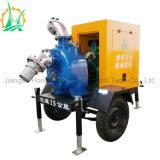 Bomba montada acoplado diesel autocebante impermeable de la basura de las aguas residuales