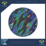étiquette de garantie de forme ronde d'hologramme du laser 3D