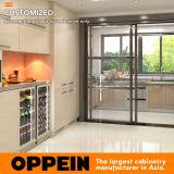Gabinete de cozinha seco molhado do aço inoxidável de Oppein - e - com a bancada do aço inoxidável (OP17-ST02)