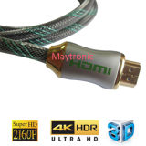 Cable de nylon de la trenza 4k 2160p V2.0 HDMI