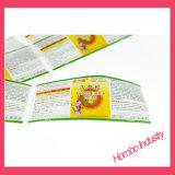 Buenas ventas y escritura de la etiqueta plástica de la botella del librete farmacéutico de la venta directa de la fábrica de la alta calidad