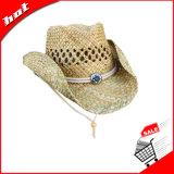 Шлем сторновки шлема человека шлема бумаги шлема сторновки Seagrass шлема ковбоя шлема сторновки естественный