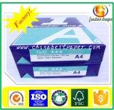 Papel de cópia 75GSM do ISO 98% do brilho/escritório A4 80GSM