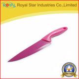 cuchillo de cocina del acero inoxidable 5PCS fijado con la mano plástica