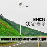 modèle actionné solaire du réverbère de batterie au lithium 12V 30W~120W DEL avec 6m Pôle léger