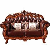 Sofá de cuero con la cabina del vector para los muebles de la sala de estar