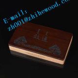 Rectángulo de madera modificado para requisitos particulares venta caliente de la pluma del embalaje