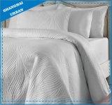 Edredón suave de la colcha del algodón del diseño de la onda