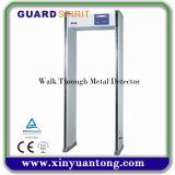 Camminata livellata di 255 un'alta di sensibilità del Archway di metallo zone del rivelatore 6 tramite il metal detector