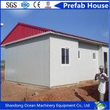 Casa pré-fabricada móvel da construção de aço da casa do material de construção e do painel de aço claros de Wandwich