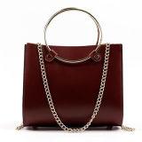 Bolsos Emg4784 de las señoras del cuero del zurriago del bolso de las mujeres de la maneta del círculo de la manera