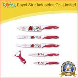 Cuchillos antiadherentes de la cocina del acero inoxidable para el hogar con la pintura
