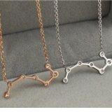 新しい方法宝石類のステンレス鋼のディッパーの整形女性のダイヤモンドネックレス