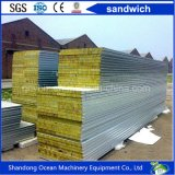 Felsen-Wolle-Zwischenlage-Panel-Zwischenlage-Vorstand für die Dach-Panel-Wand gebildet von Stahlblech-Farben-überzogenem Stahlblech des Stahlblech-PPGI des gute Qualitätspreiswerten Preises