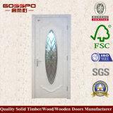 Porte vitrée en bois en verre trempé en verre blanc (GSP3-047)