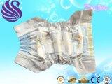使い捨て可能な赤ん坊のおむつのズボン、柔らかい通気性のおむつ、中国の赤ん坊のおむつのズボンの工場