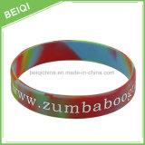 Wristband del silicone stampato abitudine poco costosa della fabbrica con multi colore misto