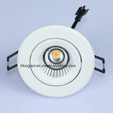 7W PANNOCCHIA Dimmable di alluminio bianco LED Downlight registrabile