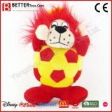 Stuk speelgoed van de Leeuw van de Voetbal van de bevordering het Gift Gevulde voor Jonge geitjes/Ventilators