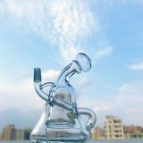 Gldg verbog Stutzen Faberage Ei-Öl-Vati-Anlage-Recycler-rauchendes Wasser-Glasrohr mit Fabrik-Preis
