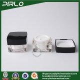 vaso cosmetico della crema dell'occhio dei contenitori del vaso di trucco del campione quadrato di plastica acrilico di alta qualità 15g