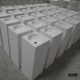 Bacino di superficie solido acrilico di piccola dimensione della stanza da bagno della mano della lavata