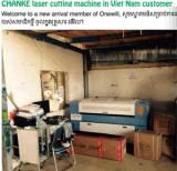 Máquina de estaca de couro acrílica do laser da gravura de pano do metal com tabela da faca
