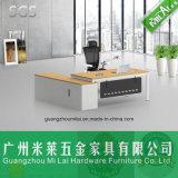 Mobília de escritório da mesa de escritório do gerente da forma com tabela lateral