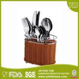 Couverts acier inoxydable réglé/d'excellents de la qualité 24PCS couverts en plastique de traitement