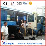 Elevador da cadeira de rodas de Xinder Wl-Uvl-1600II-H para o ônibus na bagagem