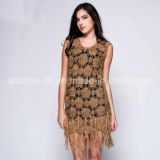 Ladies Girls Tassel Ice Seda Crochet Vestidos Hand Handmade Croche