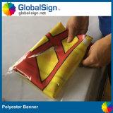 Крытый или напольный полиэфир ткани хорошего качества рекламируя установленное знамя